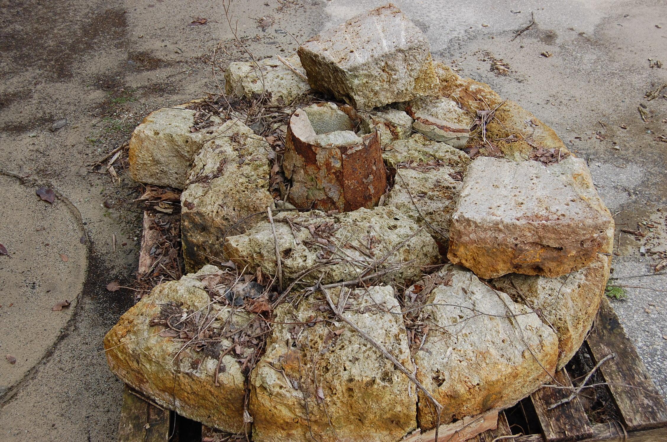 The original Mount Healthy Flour Mill millstone