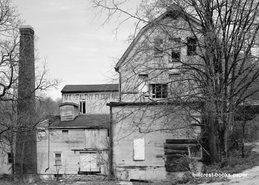 The remaining barn of the Mt. Healthy Flour Mill after the arson.
