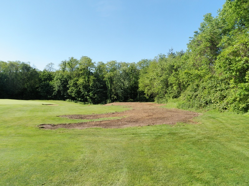 The project area just after the initial clearing and grading had begun.