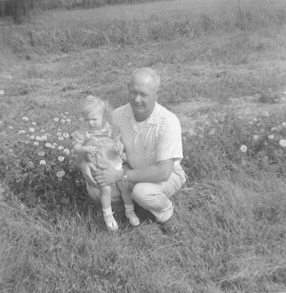 Father and daughter, Buck and Joyce Lovins, 1959