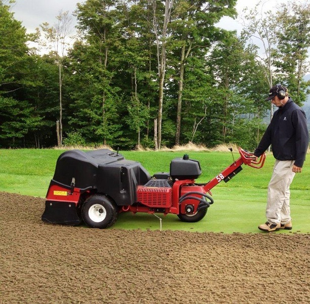Aerification using a Toro Pro-core walk-behind aerifier