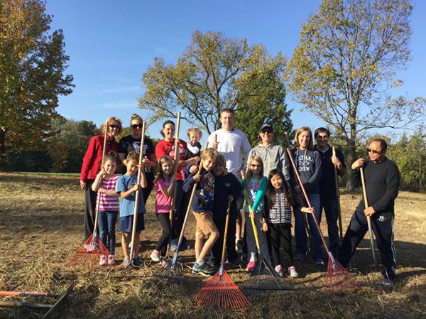 Volunteers plant milkweed to attract pollinators to Sharon Woods Golf Course