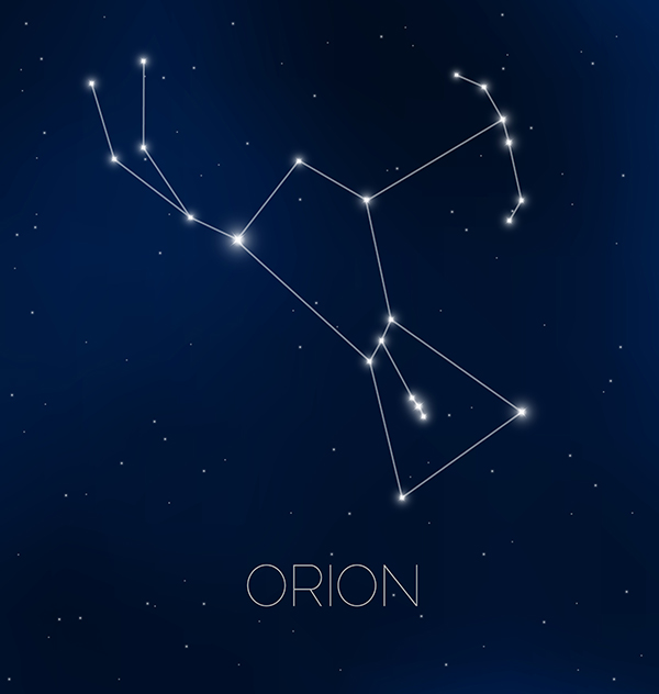 The Orion constellation