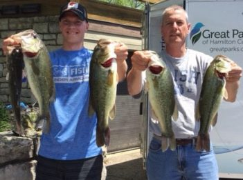 Matt and Steve Wheeler hold their catches