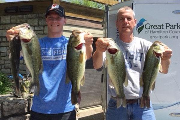 Matt and Steve Wheeler hold their catches