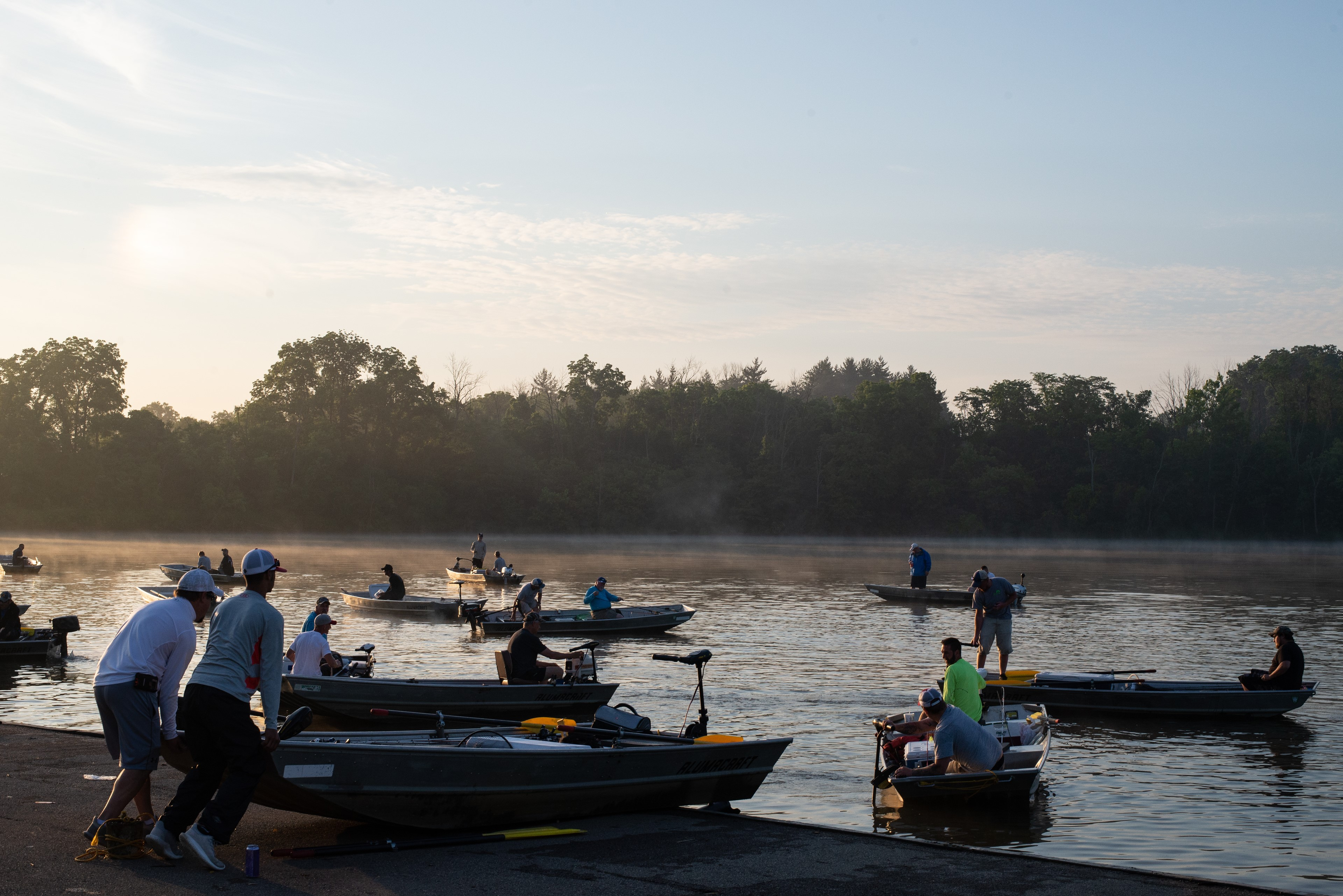 July 14 Bass Series Anglers Head Out on the Water