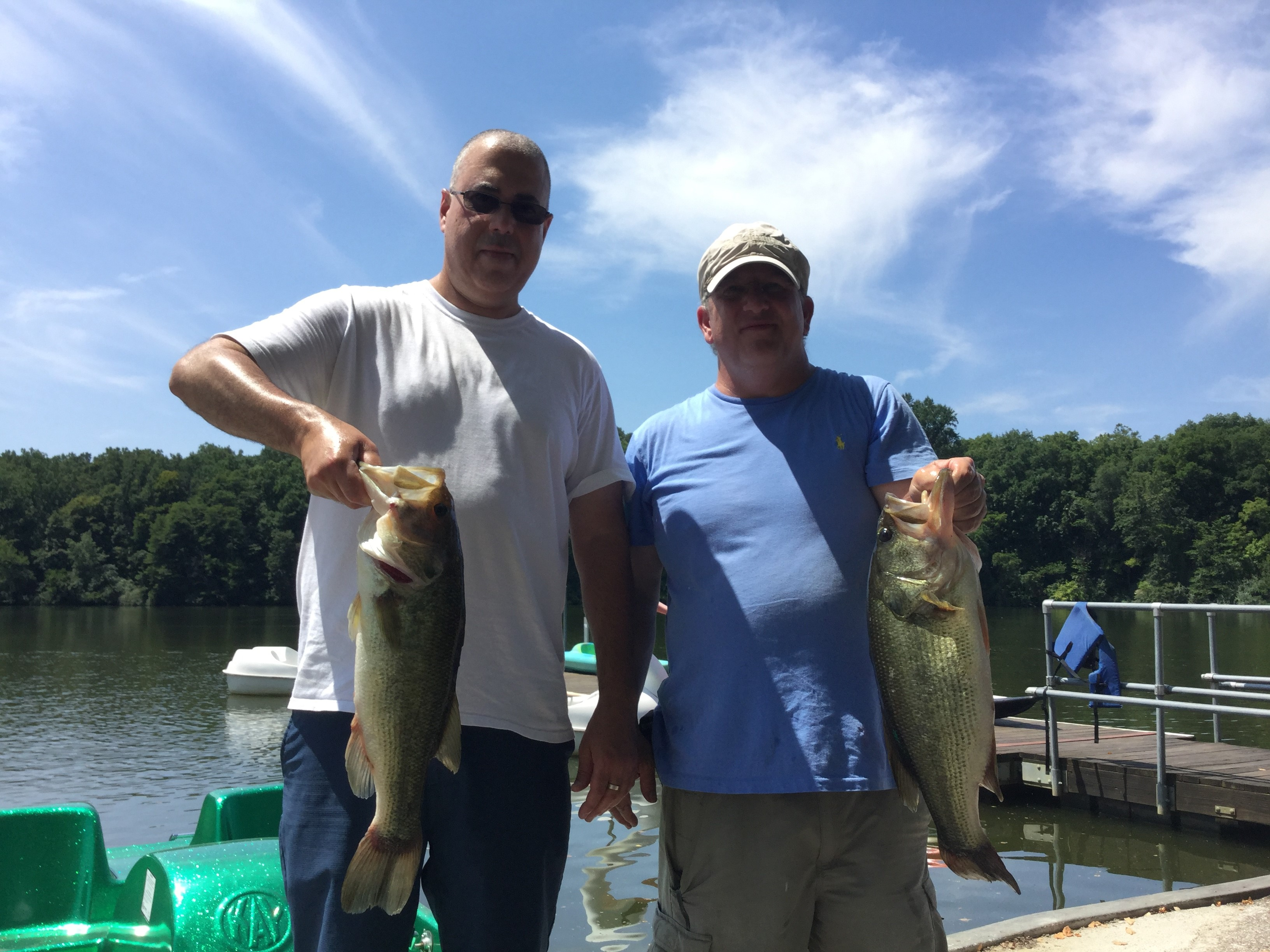 August 3 Bass Series Julio Delgado and Paul Regensburger