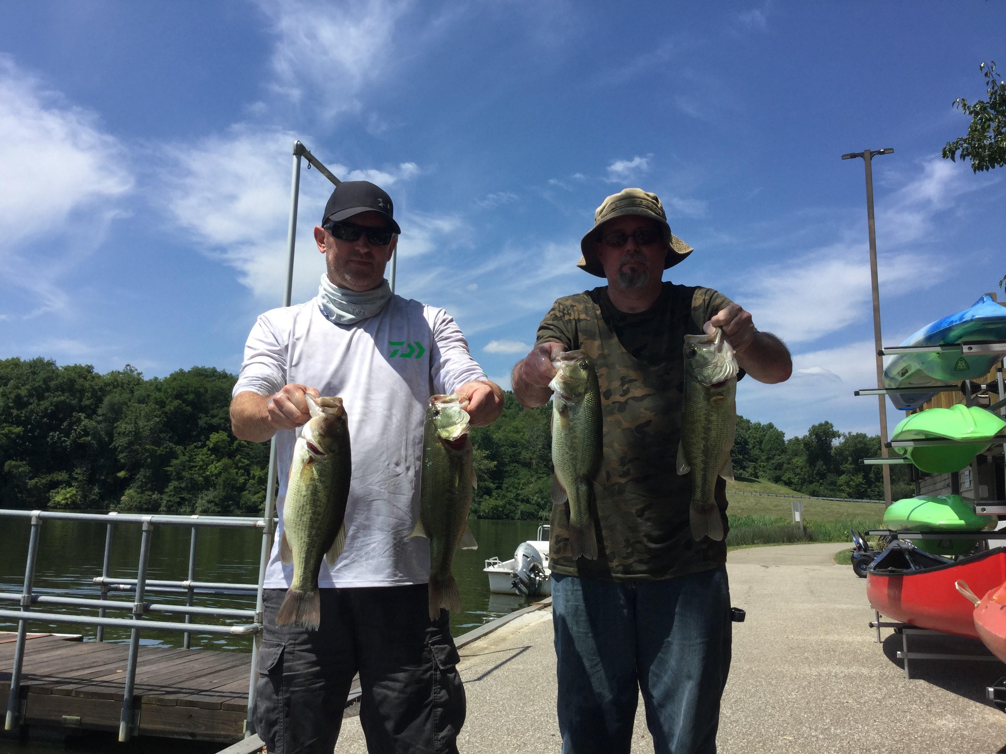 August 3 Bass Series Steve and Shawn Gardner