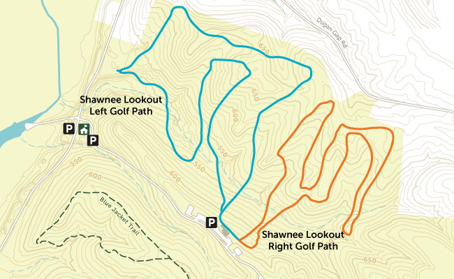 Shawnee Lookout golf paths map