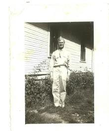 Vernon Lovins in the Army 1944.