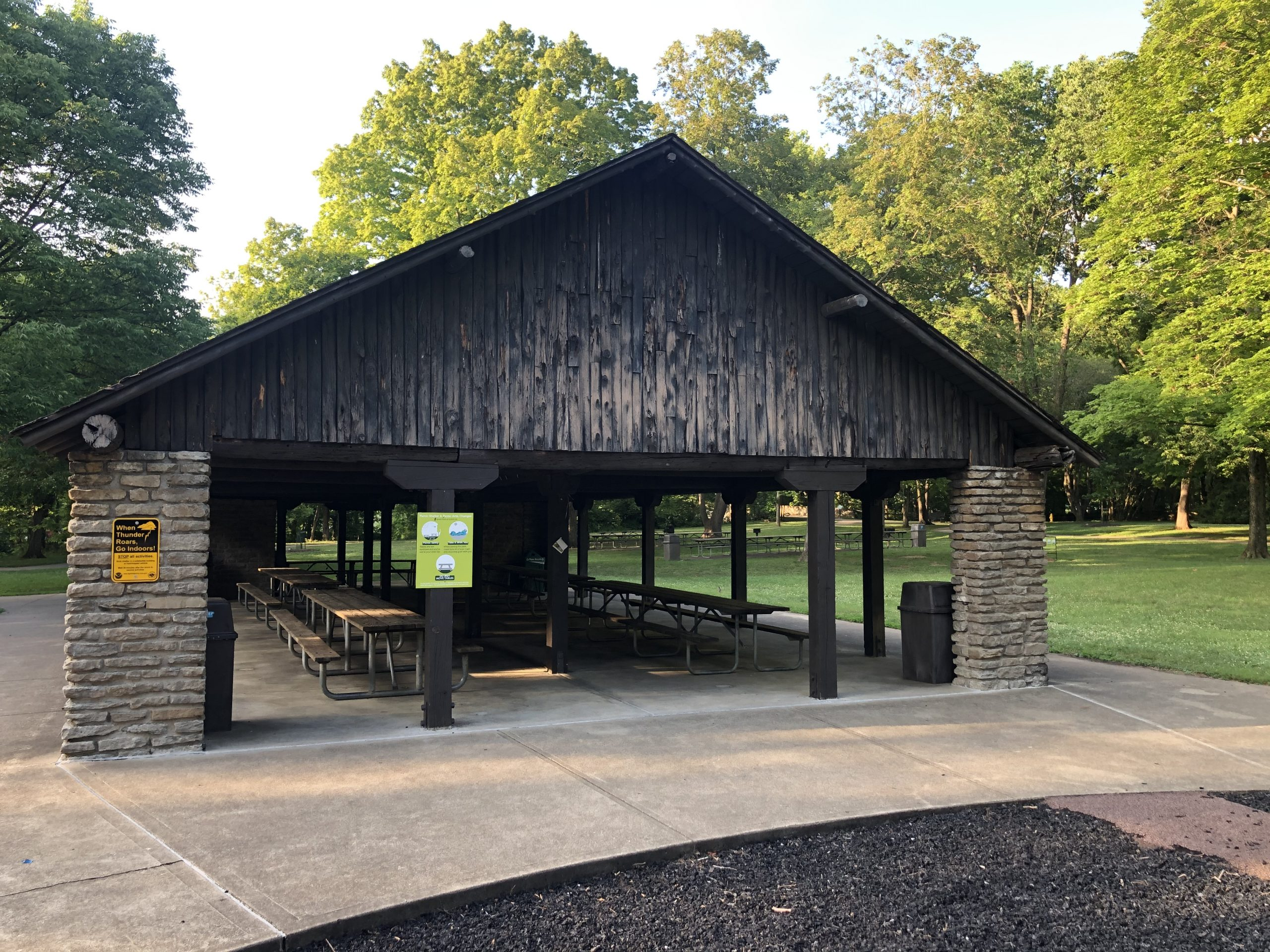 Pavilion Grove Shelter, July 2020