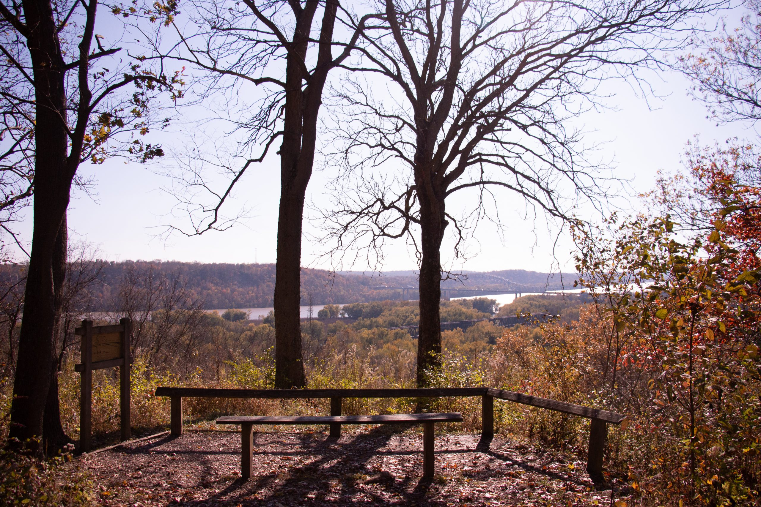 The point of the Miami Fort Trail not only has views of the Great Miami and Ohio rivers, but you can see Ohio, Kentucky and Indiana.