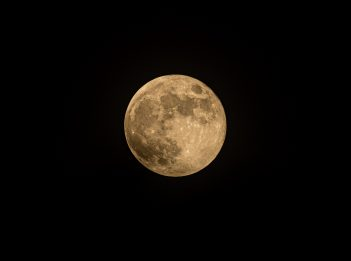 Strawberry moon on the night of June 5, 2020.